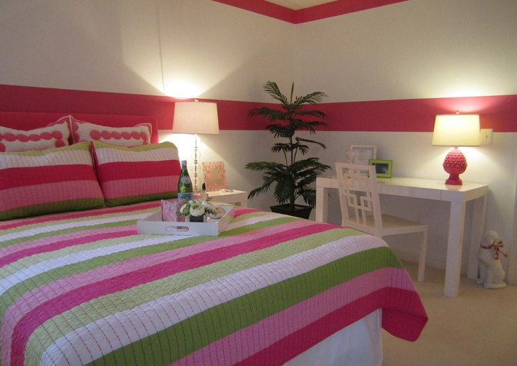 Lilly Pulitzer Inspired Guest Bedroom.