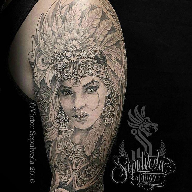 Mayan warrior princess tattoo