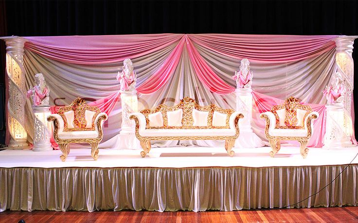 Foyer Decor For Wedding : Gallery for mandap foyer stage decor top table backdrop