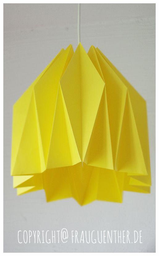 DIY  Origami Papierlampe 2 ° Origami Paper Lamp 2