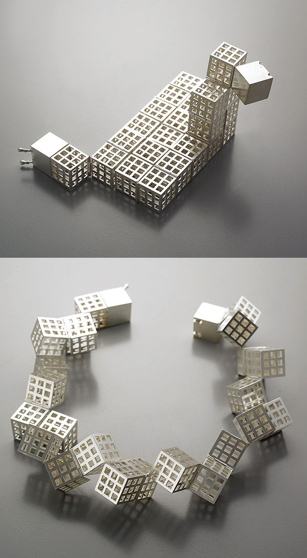 "Sowon Joo Studio ""Cube"" Necklace sterling silver: not pinned to jewelry because I don't want to wear it. I just want to play with it!"