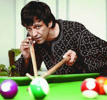 Kay Kay Menon Playing Snooker