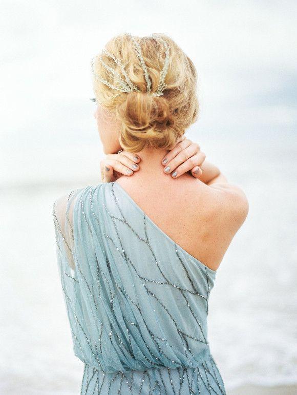 Pale Blue Coastal Wedding Inspiration - Wedding Sparrow | Best Wedding Blog | Wedding Ideas #Photography