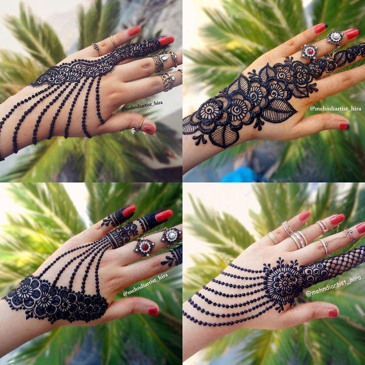 1,876 отметок «Нравится», 19 комментариев — Hira_Hennaartist (@mehndiartist_hira) в Instagram: «Which is your favourite design..? Tutorial for all on youtube➡️mehndiartist_hira #henna #henna_i…»