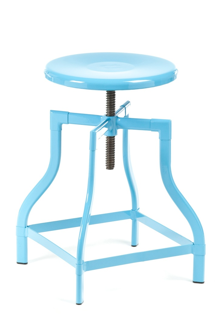 Machinist Stool Blue Industry West Furniture