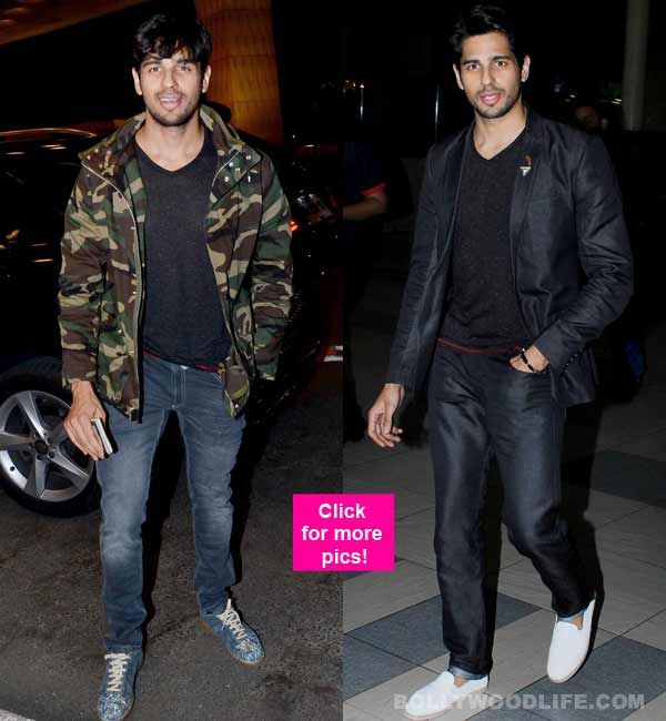 Work-horse Sidharth Malhotra gives us two swoonworthy airport looks as he takes off for Miami  view HQ pics!