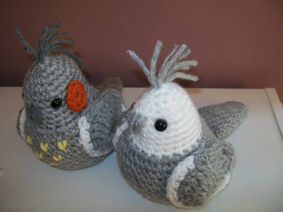 Jake in crochet @Karen Dunger - a lady on etsy crochets them to match your bird