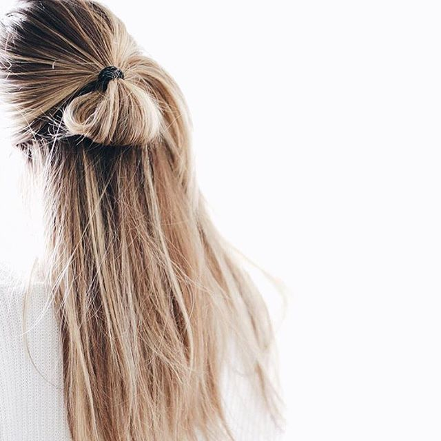 Straight beach hair