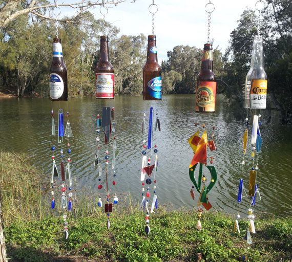 Beer Bottle Wind Chime Made to order Choose your by UReflections, $35.00