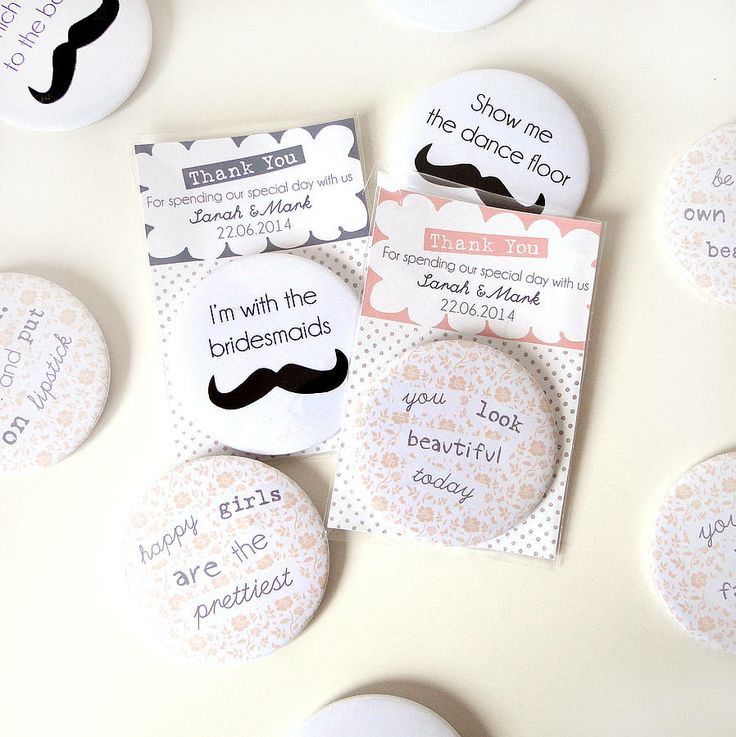 Personalised Badge Or Magnet Wedding Favours