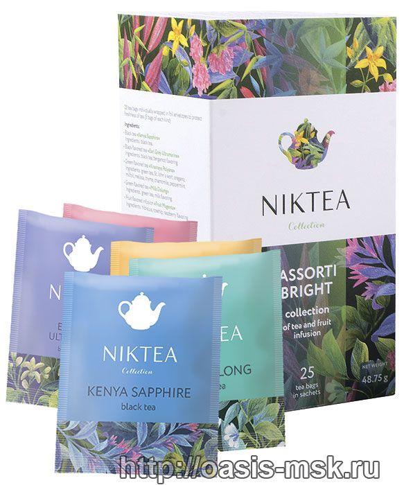 Ассорти Niktea 25х2г. пакетированный чай - Пакетированный чай NikTea