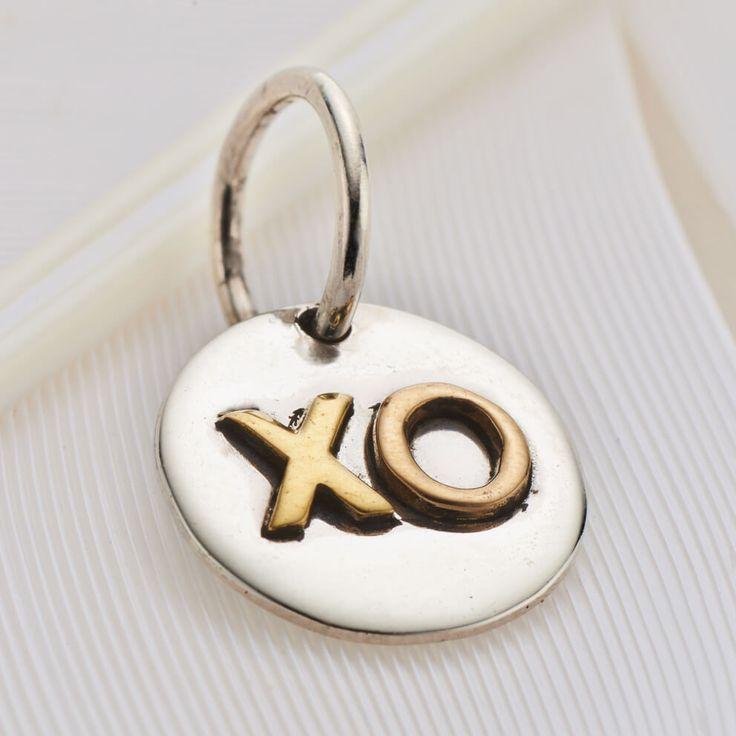 XO charm #3302 available in stores and online now https://palasjewellery.com.au/stockist-australia/ #palasjewellery #love #moonandback