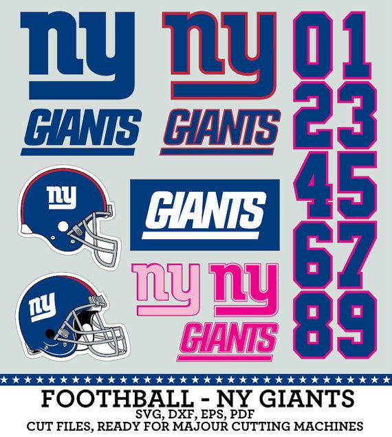 New York Giants Football Logo Numbers  SVG DXF by SVGsilhouetteDXF