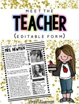 "This classy, chic ""meet the teacher"" letter editable template is perfect for introducing yourself to your students and their families. Once I get my class list, I mail this letter out to my students before they officially meet me for the first time at Open House."
