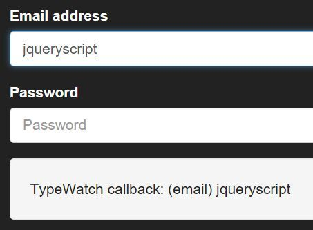 TypeWatch is a lightweight yet useful jQuery plugin that triggers a callback function when your user stops / finishes typing in a text field.
