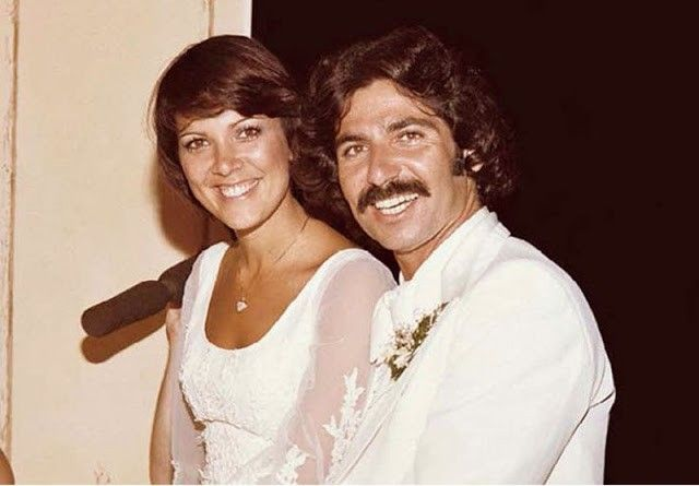 Kris Jenner and her first husband Robert Kardashian at their 1978 wedding