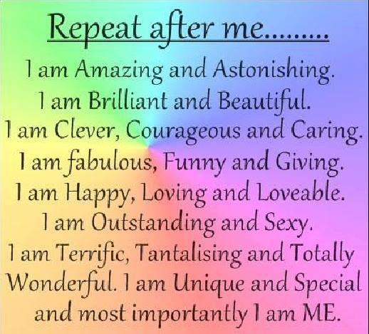But I know that I am not all of these things! I wish I could.