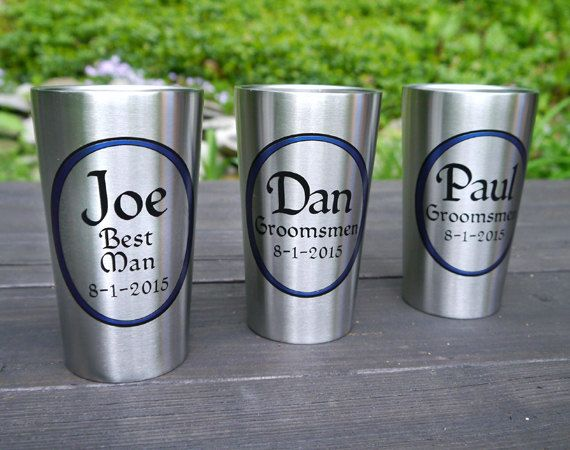 Personalized Tumbler, Beer Groomsmen Gift   Stainless Steel Insulated Beer  Cup For Deck, Patio