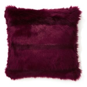 Kilbride Faux Fur Ruby Cushion
