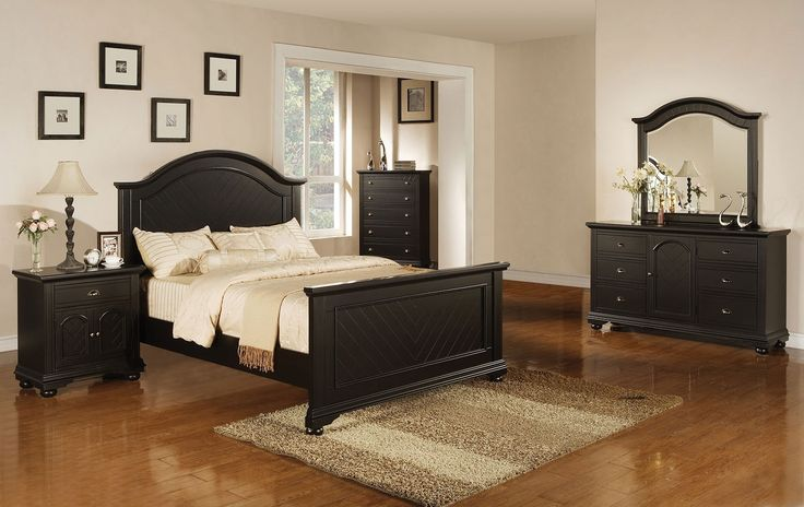 Arianna Whitewash Cal King Canopy Bedroom Set