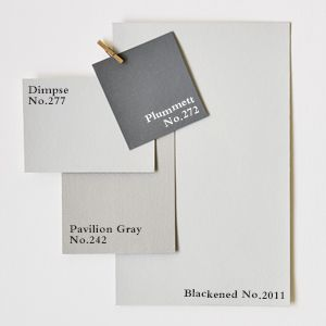 Farrow & Ball. Colour scheme. Plummett.