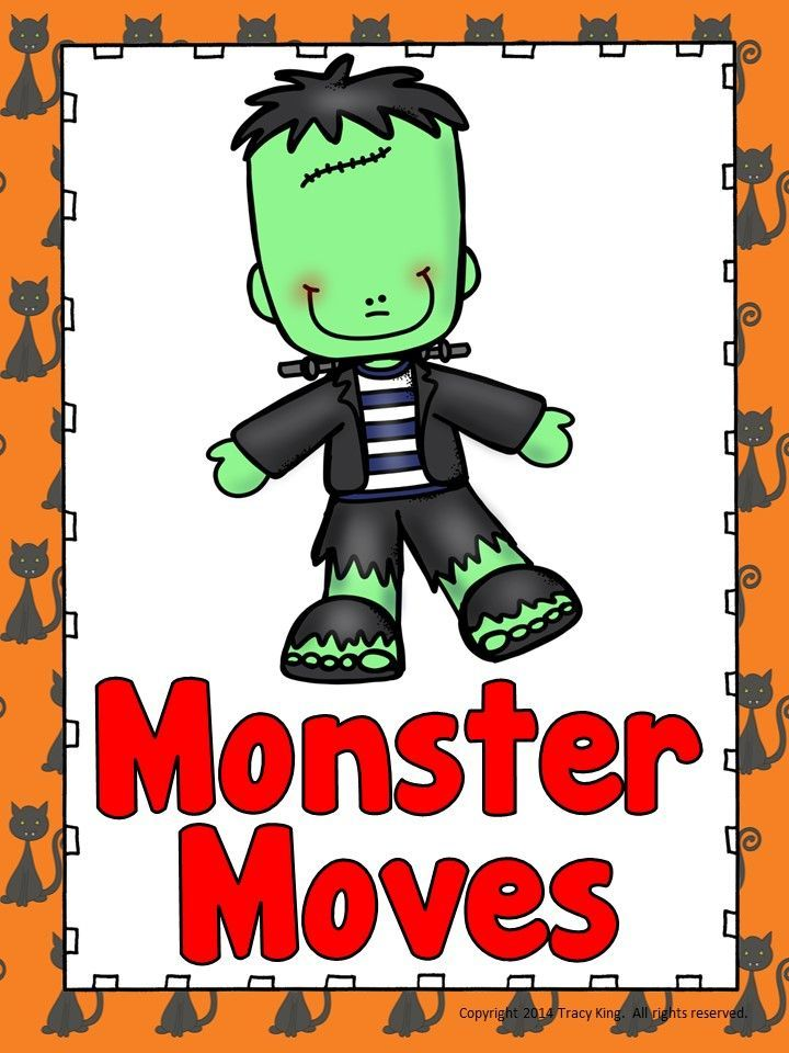 """Creative Movement and Freeze Dance games for October.  Love these clever dance names! SO many great ways to use these and they work with any kind of music.  I think I might choose something for Halloween like """"Ghostbusters"""" or """"Monster Mash"""" just for fun!"""