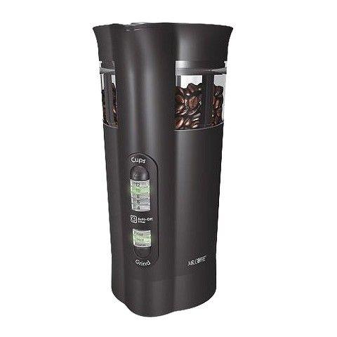 Mr. Coffee 12 cup coffee grinder, Black, IDS77