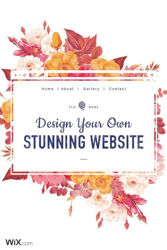 Free, fast, BEAUTIFUL, and easy to set up ur site with Wix.