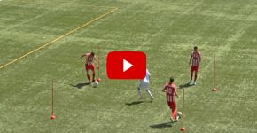 Soccer Triangle Passing Drill