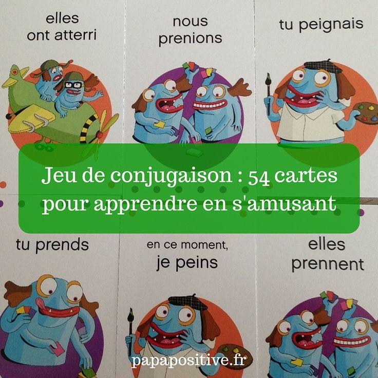 Afin que l'apprentissage des conjugaisons soit une réussite pour nos enfants, je vous invite à jouer avec eux à ce jeu de conjugaison de 54 cartes