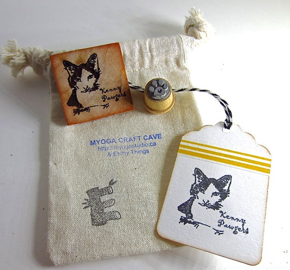 Pet Portrait Rubber Stamp with Pets Name Fabric by etchythings, $25.00