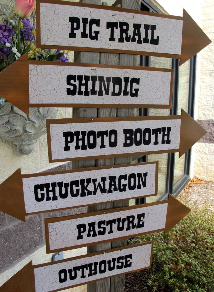 directional sign #cowboy #western #party