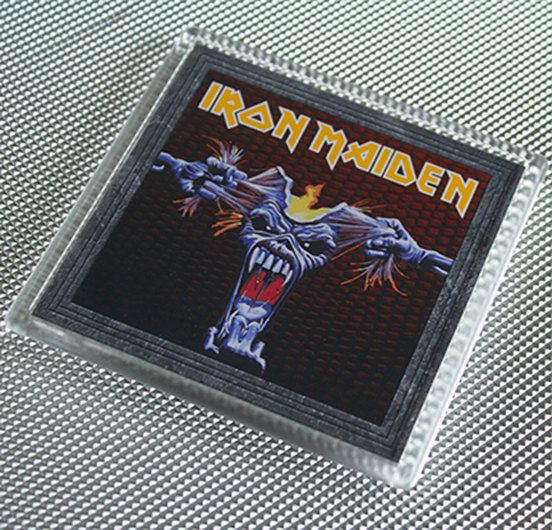 Great Iron Maiden Coaster by WeeHings on Etsy