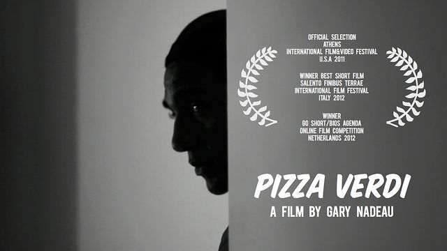"Pizza Verdi (2012)  **WINNER ""CORTI CORTISSIMI""  BEST SHORT 2012 SALENTO FINIBUS TERRAE INTERNATIONAL FILM FESTIVAL** Brindisi Province - Italy  **WINNER of the 2012 GO SHORT 