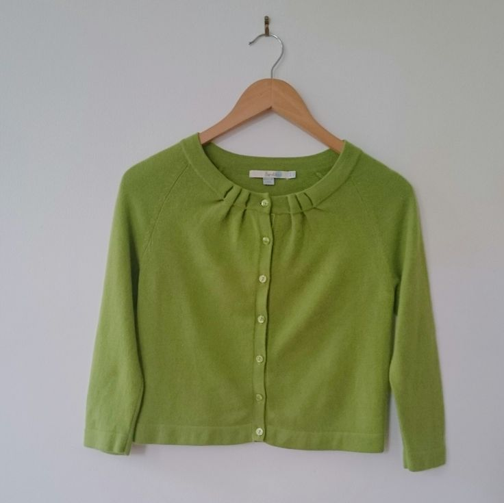 GREEN BODEN CASHMERE CARDIGAN