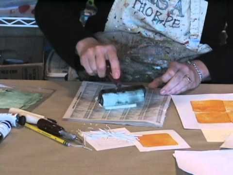 Reduction Printing Lesson - YouTube by Lisa Thorpe. This is a great tutorial about reduction printing; she also wrote an article in Cloth Paper Scissors September/October issue #38.