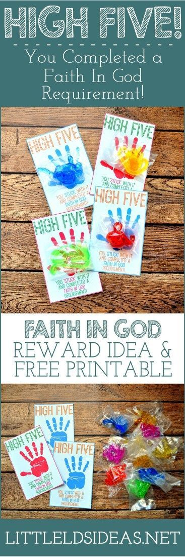 Faith in God reward idea for Primary! Free printable from Little LDS Ideas.