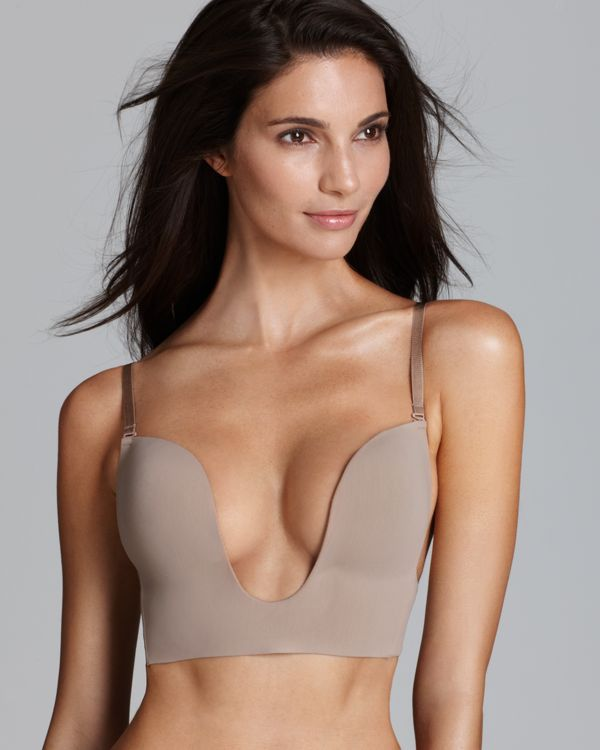 The essential foundation to your favorite low-cut tops and dresses, this U plunge bra from Fashion Forms offers support and comfort with wireless push-up cups. Style #P9678 | Nylon/spandex | Hand wash