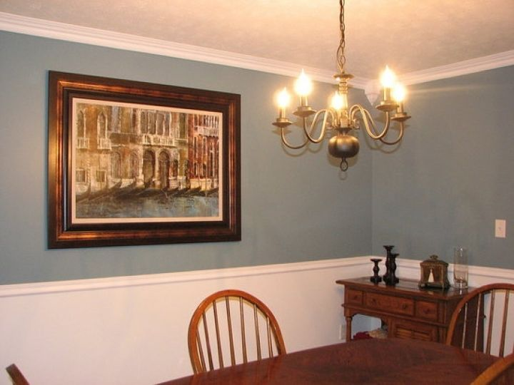 Chair Rail Dining Room White