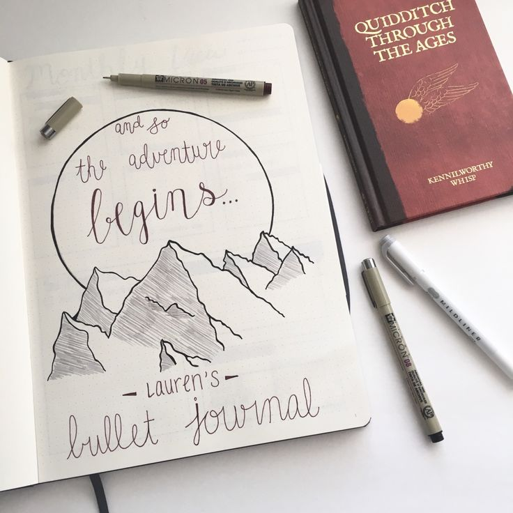 "laurens-notebook: ""Finally got around to making the intro for my bujo. The first page is always the most pressure! I like how it turned out, especially with my new burgundy micron pen! I'm in love! """