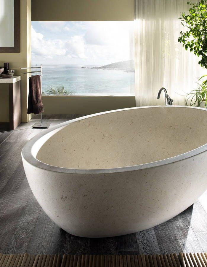 17 meilleures id es propos de baignoire en pierre sur pinterest baignoire - Baignoire en pierre naturelle ...