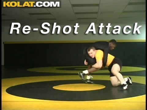 Re-Shot Post Double Leg KOLAT.COM Wrestling Techniques Moves Instruction