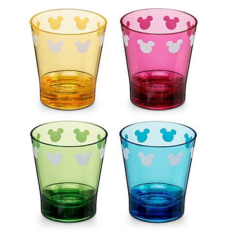 your wdw store disney plastic shot glass set color fusion mickey mouse
