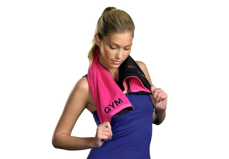Fitness Towel with Germ Shield and hidden zippered pocket
