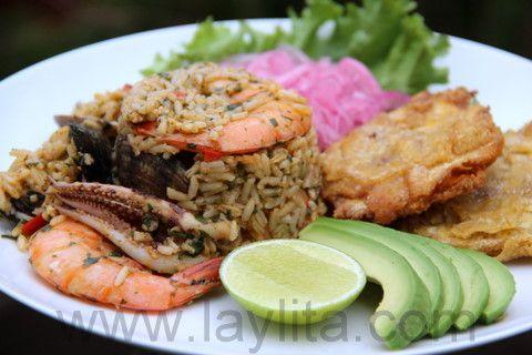 Arroz marinero or seafood rice - Ecuador - Laylita's Recipes