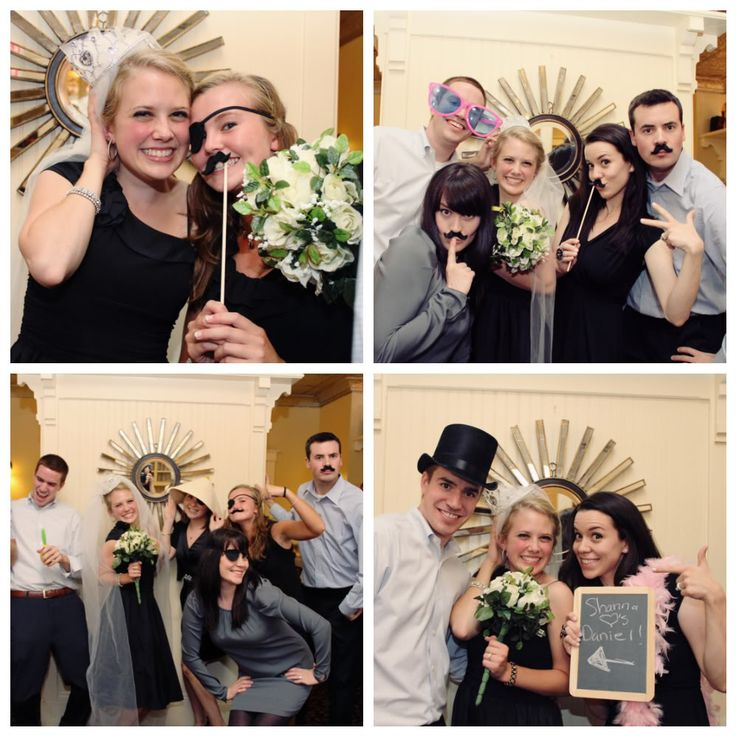 They had crazy accessories for everyone to put on in the photo booth shots @ rehearsal dinner