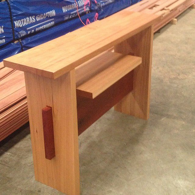 Hall stand made with solid Australian Hardwood timber treads