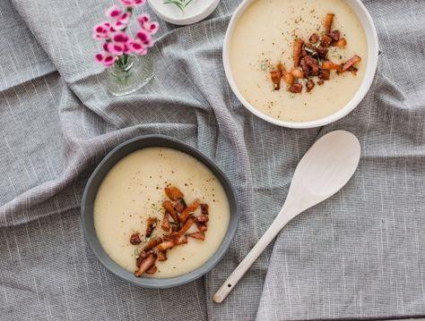 Hideg burgonyakrémleves szalonnával Recept képpel - Mindmegette.hu - Receptek