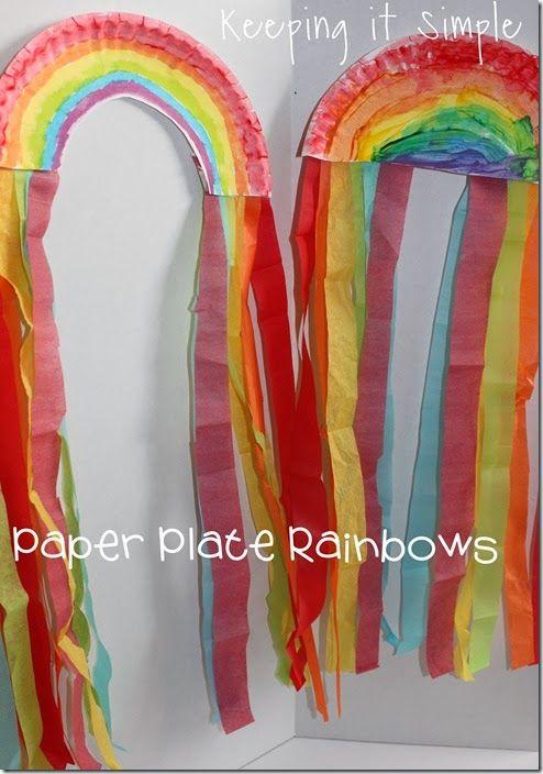 St. Patricks Day Kids Craft: Paper Plate Rainbows