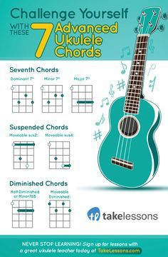 Challenge Yourself With These 7 Advanced Ukulele Chords: http://takelessons.com/blog/movable-ukulele-chords-z10?utm_source=social&utm_medium=blog&utm_campaign=pinterest